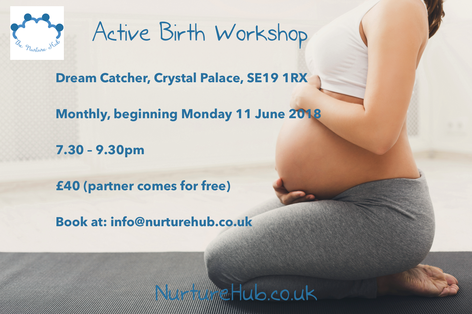 New Crystal Palace venue for our popular Active Birth Workshop